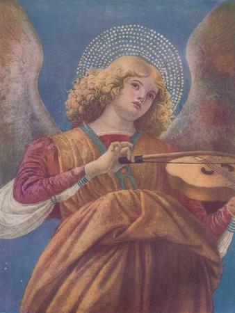 Musical Angel with Violin (fresco)', c15th century