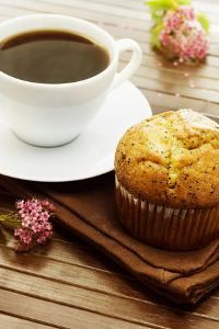 Delicious Poppy Seed Muffins with A Cup of Coffee by Melpomene