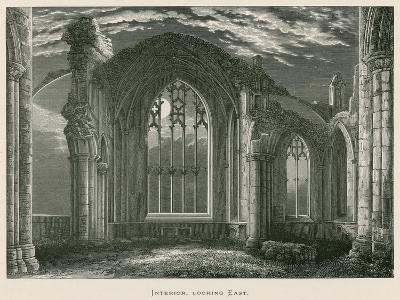Melrose Abbey, Interior, Looking East-Alexander Francis Lydon-Giclee Print