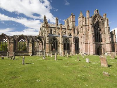 Melrose Abbey, Melrose, Borders, Scotland, United Kingdom, Europe-Richard Maschmeyer-Photographic Print