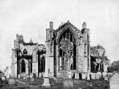 Melrose Abbey, Scotland, 1893-John L Stoddard-Giclee Print