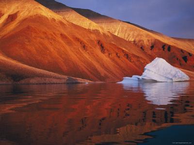 Melting Iceberg on Coast Qaanaaq, Greenland-Staffan Widstrand-Photographic Print