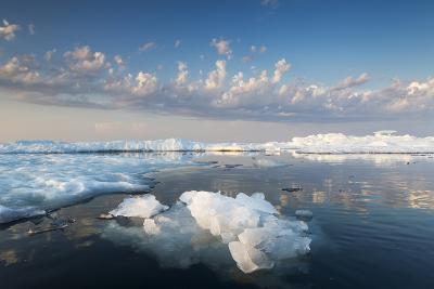 Melting Sea Ice at Sunset, Hudson Bay, Canada-Paul Souders-Photographic Print