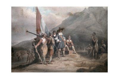 A Reenactment of Jan Van Riebeek's Landing at the Cape of Good Hope