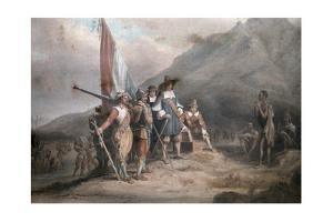 A Reenactment of Jan Van Riebeek's Landing at the Cape of Good Hope by Melville Chater