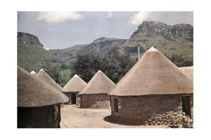 Rondavels Provide Historical Camping Sites in Natal Drakensberg Park by Melville Chater