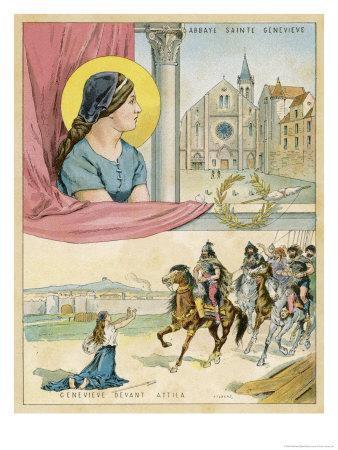 French Nun and Saint the Abbaye Sainte Genevieve