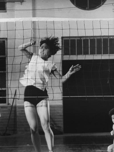 Member of Japan's Nichibo Championship Women's Volleyball Team-Larry Burrows-Photographic Print