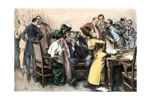 Members of a Jury Trying to Convince Juror number Twelve, Early 1900s