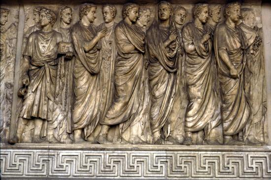 Members of Augustan family, Ara Pacis, 'Altar of Peace', Rome, 13 BC-Unknown-Giclee Print