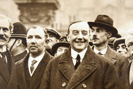 Members of Britain's first Labour Government, after leaving Buckingham Palace, London, 1924-Unknown-Photographic Print