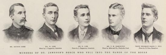 Members of Dr Jameson's Force Who Fell into the Hands of the Bores--Giclee Print