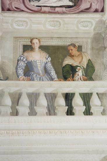Members of the Barbaro Household, from the Sala Di Olimpo, C.1561 (Detail)-Veronese-Giclee Print