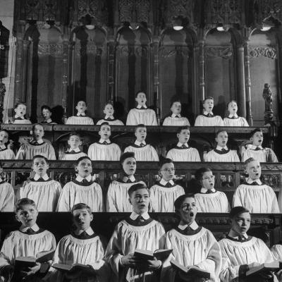 Members of the Boys Choir at St. John the Divine Episcopal Church Singing During Services-Cornell Capa-Photographic Print