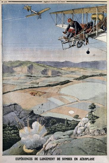 Members of the French Air Corps on Bomb Practice at Chalons, 1912--Giclee Print
