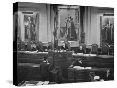 Members of the Fulham Tribunal Listening to Statement by Conscientious Objector