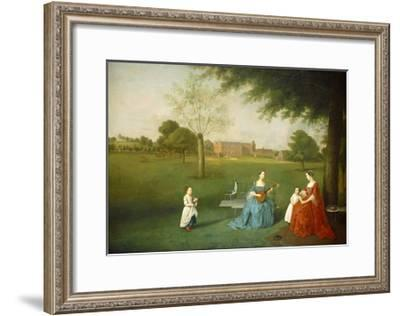 Members of the Maynard Family in the Park at Waltons, C.1755-62-Arthur Devis-Framed Giclee Print