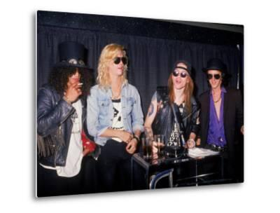 Members of the Rock Group Guns N' Roses Slash, Duff Mckagan, Axl Rose and Izzy Stradlin