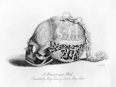 Memento-Mori Watch Presented by Mary Queen of Scots to Mary Seaton, 16th Century-CJ Smith-Giclee Print