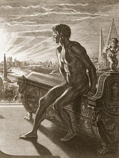 Memnon's Statue, 1731 (Engraving)-Bernard Picart-Giclee Print