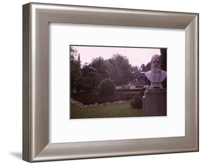 Memorial bust of Tolstoy in park in Socchi, 20th century-CM Dixon-Framed Photographic Print