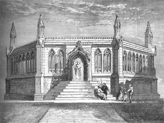 'Memorial Chapel at Cawnpore', c1880-Richard Principal Leitch-Giclee Print