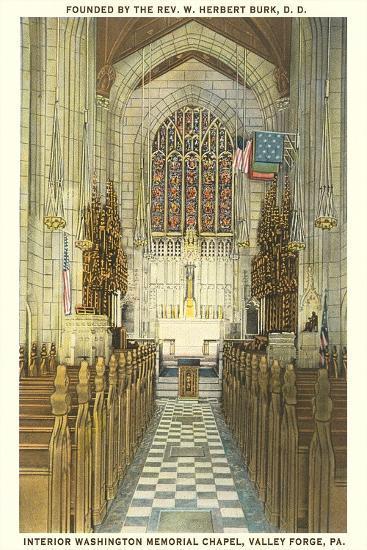 Memorial Chapel, Valley Forge--Art Print