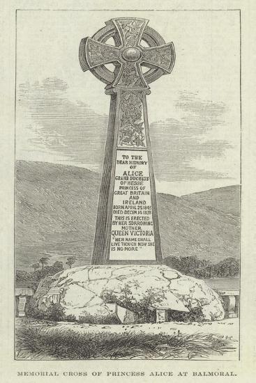 Memorial Cross of Princess Alice at Balmoral--Giclee Print