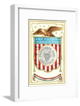 Memorial Day Greetings, Eagle with Banner