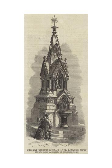 Memorial Drinking-Fountain of St Lawrence Jewry and St Mary Magdalen, in Guildhall-Yard--Giclee Print