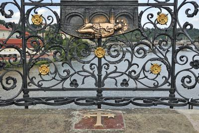 Memorial Plate for Saint John of Nepomuk, Charles Bridge, Prague, Czech Republic--Photographic Print