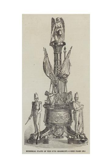 Memorial Plate of the 97th Regiment--Giclee Print
