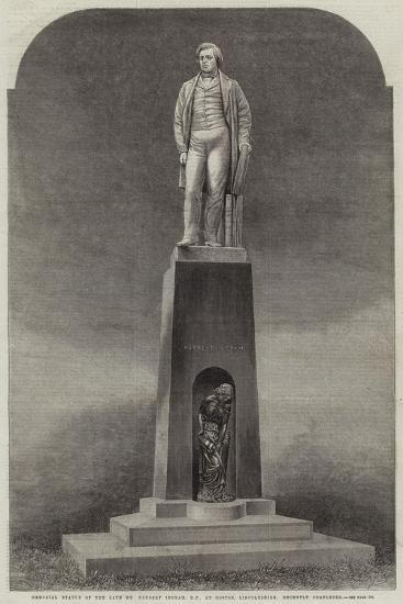 Memorial Statue of the Late Mr Herbert Ingram, Mp, at Boston, Lincolnshire, Recently Completed--Giclee Print