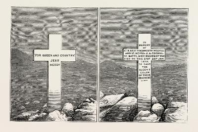 Memorial Stone at the Graves of Lieutenants Melvill and Coghill, the Zulu War, 1879--Giclee Print