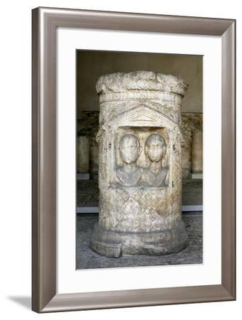 Memorial Stone from Brescia, Italy--Framed Giclee Print