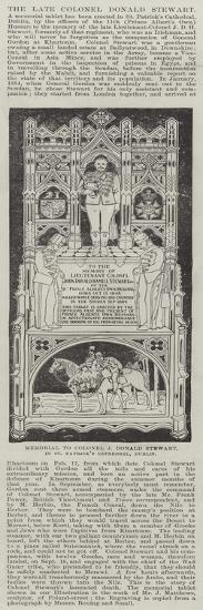 Memorial to Colonel J Donald Stewart, in St Patrick's Cathedral, Dublin--Giclee Print