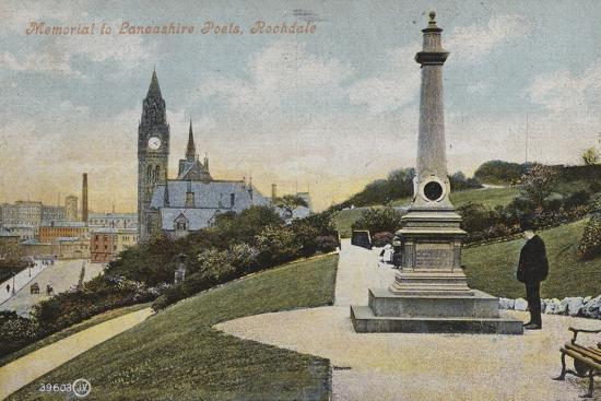 Memorial to Lancashire Poets, Rochdale--Photographic Print