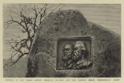 Memorial to the French Artists, Theodore Rousseau and Jean Francois Millet, Fontainebleau Forest--Giclee Print
