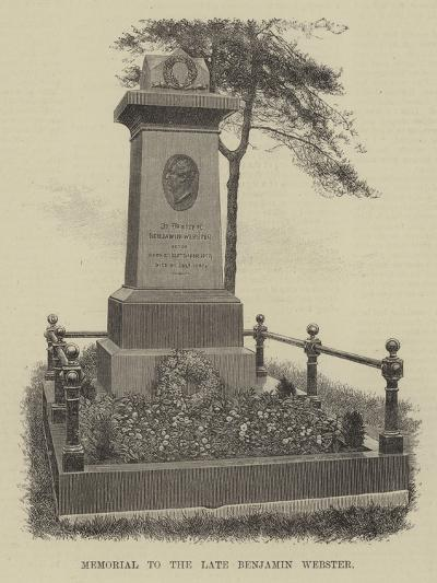 Memorial to the Late Benjamin Webster--Giclee Print