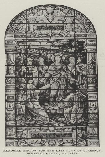 Memorial Window for the Late Duke of Clarence, Berkeley Chapel, Mayfair--Giclee Print