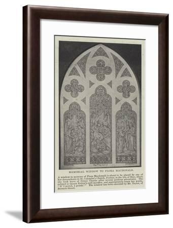Memorial Window to Flora Macdonald--Framed Giclee Print