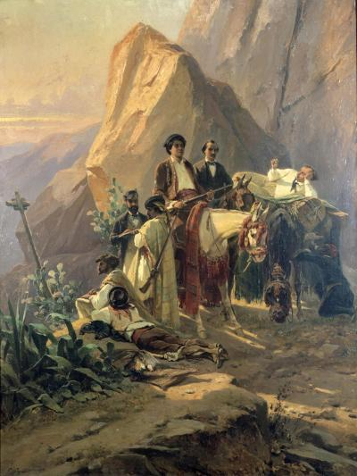 Memories of the Trip from Paris to Cadiz - Alexandre Dumas (Per) in Spain, 1830-Pierre Francois Eugene Giraud-Giclee Print
