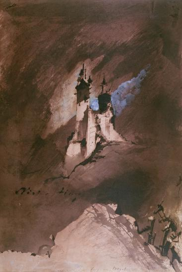 Memory of a Castle in the Vosges, 1857-Victor Hugo-Giclee Print