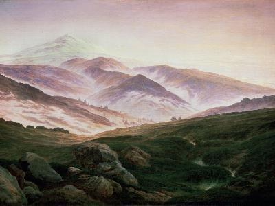 Memory of the Riesengebirge, 1835-Caspar David Friedrich-Giclee Print