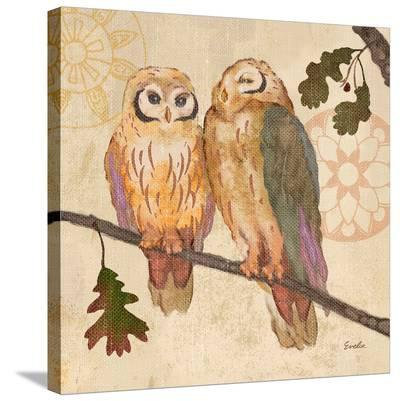 Memosa Owl--Stretched Canvas Print