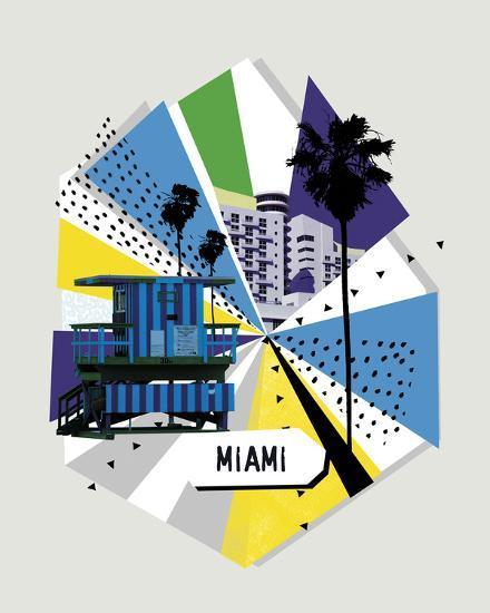 Memphis Group - Miami--Giclee Print