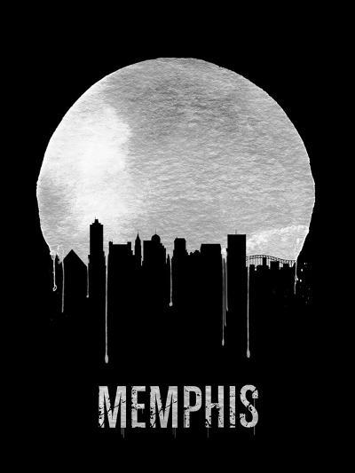 Memphis Skyline Black--Art Print