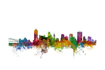 Memphis Tennessee Skyline-Michael Tompsett-Art Print
