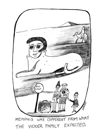 Memphis Was Different From What the Vicker Family Expected - New Yorker Cartoon-Stephanie Skalisky-Premium Giclee Print