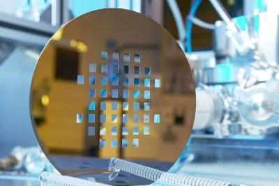 MEMS Production, Machined Silicon Wafer-Colin Cuthbert-Photographic Print